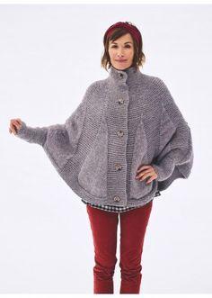 Cat. 16/17 - #319 Poncho/cape   Buy, yarn, buy yarn online, online, wool, knitting, crochet   Buy Online