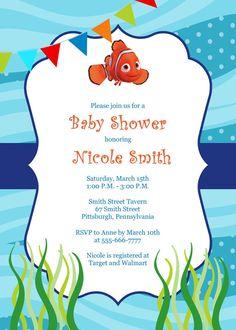 Finding Nemo Baby Shower Invitation Finding Nemo Invitation