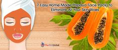 Experience a soothing papaya facial using the best papaya face packs for skin whitening, to get rid of pigmentation, pimples & lot more. Papaya Face Pack, Papaya Facial, Uses Of Papaya, Papaya Benefits, Rose Water Face, Honey Face Mask, Homemade Face Masks, Natural Skin, Skin Care Tips