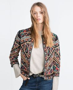 EMBROIDERED JACKET-Outerwear-TRF | ZARA United States