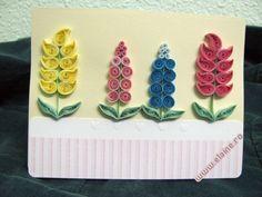 Felicitare cu flori din hartie rulata - Felicitari, Hartie rulata ...