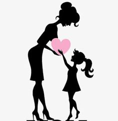 Mothers Day Quotes, Mothers Day Crafts, Beatles Tattoos, Mother Daughter Art, Unicornios Wallpaper, Beautiful Girl Drawing, Drawings Of Friends, Silhouette Art, Bottle Art