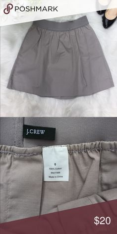 J. Crew Skirt Size 0 EUC ▪️J. crew ▪️Versatile, chic, and classic skirt instantly elevates your work and weekend outfits.   EUC  ▪️Classic and Stylish gray.  ▪️Measurements: laying flat Length approx. 16 inches, Waist approx. 12 inches ▪️Size 0 Please see all pics, read description and ask questions before purchasing. Same day shipping during weekdays. Happy Poshing! J. Crew Skirts