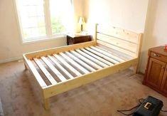 best ideas for wooden pallet furniture bed frames crafts Pallet Furniture Bed, Wood Pallet Beds, Rustic Bedroom Furniture, Rustic Bedding, Bohemian Bedding, Diy Bedroom, Furniture Ideas, Master Bedroom, Bed Frame Plans
