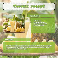 Te is szereted az ananásztumixot? Akkor ezt mindenképp készítsd el. Ismerd meg ennek a finom ananász turmixnak a receptjét! #ananászturmix Okra, Cantaloupe, Health Fitness, Cakes, Fruit, Food, Gumbo, Cake Makers, Kuchen