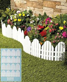 Keep your flowers separated from weeds and grass with the attractive Set of 4 Garden Borders. These interlocking pieces ensure your beautiful garden is kept int