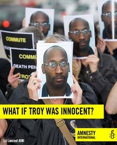 Today marks one year since Troy Davis was executed.  It's a wrong that can't be put right.    #TroyDavis #DeathPenalty Activismo / Activism