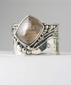 Cuff | Sterling silver and Smoky Quartz