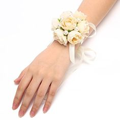 FAYBOX Girl Bridesmaid Wedding Wrist Corsage Party Prom Hand Flower Decor Pack of 4 Champagne FAYBOX http://www.amazon.com/dp/B014A8FAUM/ref=cm_sw_r_pi_dp_xHQ3vb188KQ7J