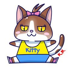 "Kitty, mascot for summer course by athletic society ""Mezzofondo Club Ascoli"". #sport #society #sportive #athletic #cat #mascot #kitty #run #draw #manga #kawaii #cute #chibi"