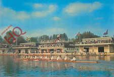 Postcard: Oxford, College Boathouses