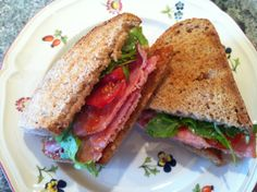 "Bacon Sandwich on Spelt Bread with Fresh Tomatoes, Rocket, Basil and Tomato Sauce! - ""This is my favourite dish because it's a quick, delicious summer lunch."" (Sally from Kent)"