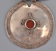 Headdress ornament,  Serajna , Olam or Ersari, carnelian and silver ( inventory for sale infor@singkiang.com)