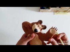 Masha e o Urso passo a passo em biscuit De uma maneira muito fácil de entender Divirta-se e Att a próxima.