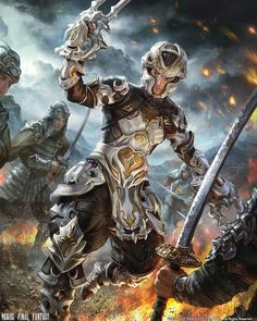 View an image titled 'Pugilist Art' in our Mobius Final Fantasy art gallery featuring official character designs, concept art, and promo pictures. Kratos God Of War, Mobius Final Fantasy, Final Fantasy Art, Fantasy Heroes, Fantasy Armor, Fantasy Characters, Connor Kenway, Assassins Creed 3, Templer