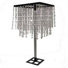 "32"" Tall Venus Square Crystal Chandelier Tree Centerpiece"