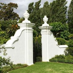 Portals of Paradise 🌴 Classical Architecture, Architecture Details, Landscape Architecture, Gate Post, Cape Dutch, Spanish Villas, Boundary Walls, Rosemary Beach, Entrance Gates