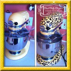Leopard print decal: Kitchen mixer vinyl decal LEOPARD PRINT decal set by GoodGollyGraphics, $25.00