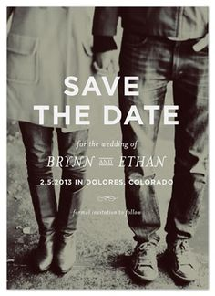 lovely save the date.  simple, classic, and black & white ~ memento by annie clark