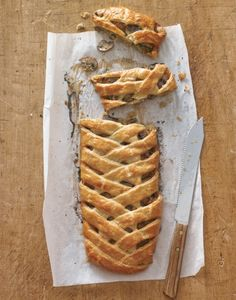 Fontina, Leek and Mushroom Braid. A savory pastry to serve a crowd!