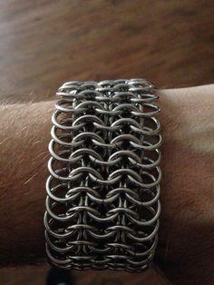 """1.5"""" 6/1 European weave bracelet"""