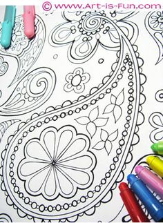 Abstract coloring images for visual relaxation and meditation