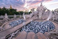 Rong Khun Temple, Chiang Rai province, Thailand.
