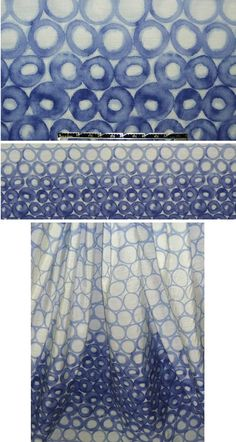 Italian silk/viscose blue loopy ombre voile - perfect for a sundress