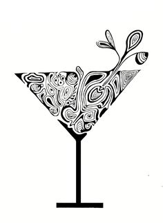 Martinis and tattoos and body art on pinterest for Small cocktail tattoos