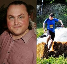 From Fat to Fit.  Weight Loss Before and After picture.