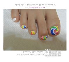 RAINBOW NAILS DIY for feet