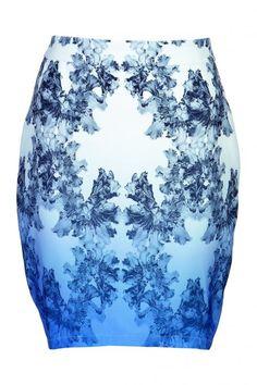 Prachtige dip-dye Delftsblauwe kokerrok van Zalando Collection @ Zalando ♥ Flowerpower