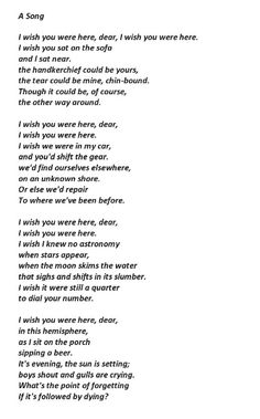 A Song by Joseph Brodsky