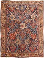 Antique Persian Heriz Rug 46647 Color Detail - By Nazmiyal