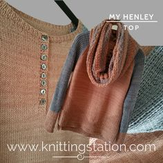 The Knitting Station provides Designer Knitting Patterns and Information Designer Knitting Patterns, Henley Top, Top Top, Pattern Design, Reusable Tote Bags, Eye, Casual, Tops, Fashion