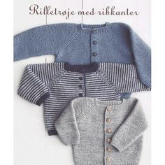 Ravelry: Rilletrøje pattern by Lene Holme Samsøe Baby Boy Knitting, Knitting For Kids, Baby Knitting Patterns, Baby Patterns, Knitting Projects, Baby Knits, Knitted Baby, Cardigan Bebe, Baby Cardigan