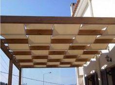 Πέργκολα ξύλινη με πλεχτό πανί | 4umarket.gr
