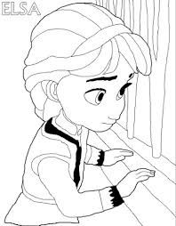 Coloring Page With ELSA From The 2013 Movie By DISNEY PIXAR Called FROZEN FROST In Several Countries As Well This For Printing Show Young