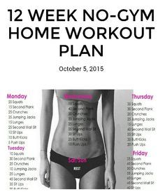 12 week No Gym Workouts