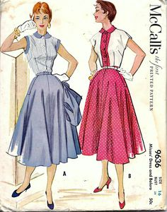 Vintage 1950s McCall's 9636 Dress and by vintagepatternstore