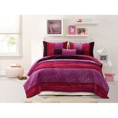 @Overstock - This Skylar comforter set showcases a collection of velvets, satin, and prints sewn in to a fun patchwork design. This stylish bedding ensemble has a soft texture and is ideal for year-round use.  http://www.overstock.com/Bedding-Bath/Skylar-Mini-Comforter-Set/5698713/product.html?CID=214117 CAD              83.07