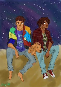 """ace-artemis-fanartist: """" I am taking full advantage of the fact that Ari and Dante's story takes place in the 80s. """""""