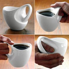 Coffee cup designed to be able to hold a muffin with your coffee