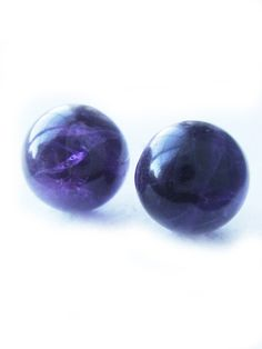 Natural Purple Amethyst Semi Precious Stone Stud Earrings 11mm February Birthstone $30.00 #jewelry