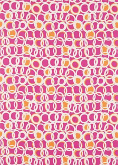 Zsa Zsa Chilli/Linen/Peony fabric by Scion