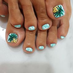Ideas Gel Pedicure Designs Summer Style For 2019 Pretty Toe Nails, Cute Toe Nails, My Nails, Jamberry Nails, Beach Toe Nails, Summer Toe Nails, Summer Pedicures, Beach Nail Art, Pedicure Nail Art
