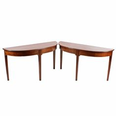 Pair of Georgian Demi Lune Side Tables