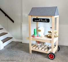 lemonade stand cart with wheels