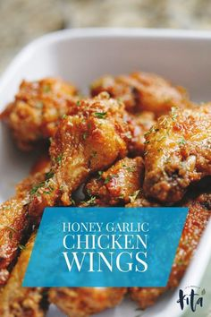 Honey Garlic Chicken Wings - It's Really Kita honey garlic wings Easy Honey Garlic Chicken, Honey Chicken Wings, Honey Garlic Chicken Wings, Chicken Wing Sauces, Honey Garlic Sauce, Fried Chicken Wings, Garlic Chicken Recipes, Baked Chicken, Honey Wings