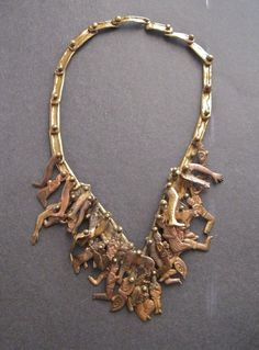 I'm a big fan of Pal Kepeyes's Bronze Jewelries and this Milagros Necklace is definitely on my list to acquire..... It's going for $750.00 at www.trocadero.com